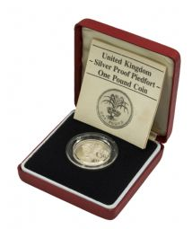1985 Silver Proof Piedfort One Pound for sale